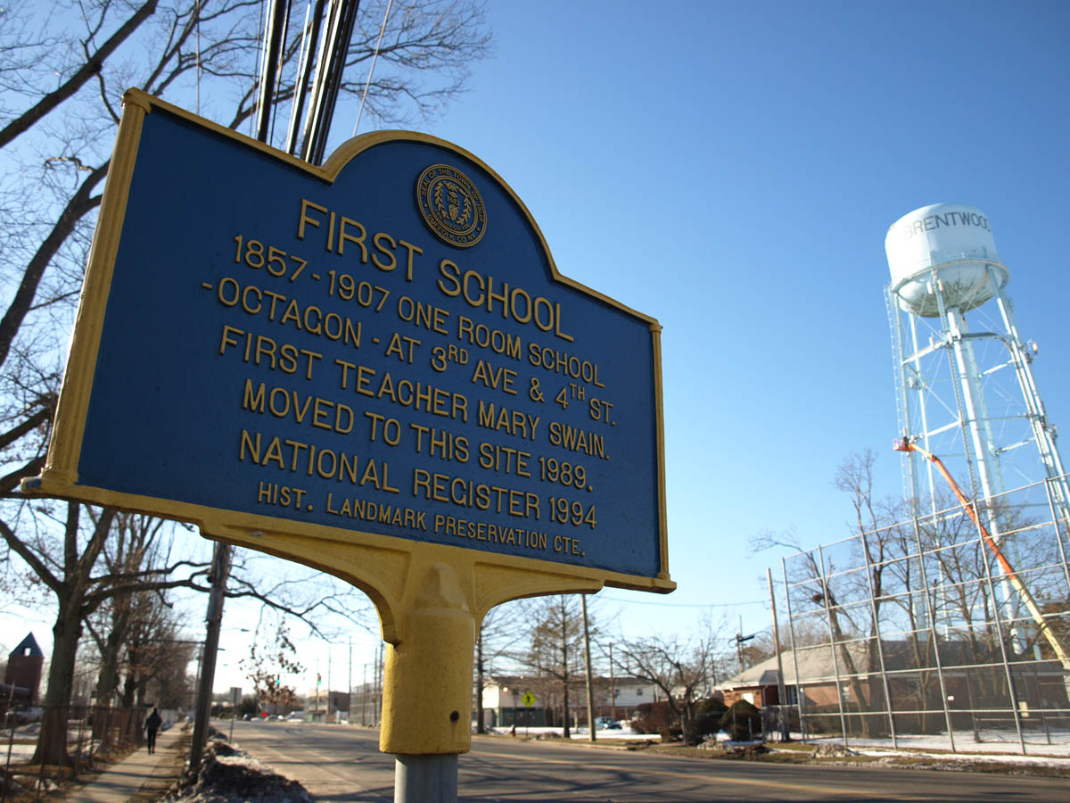 modern times schoolhouse sign