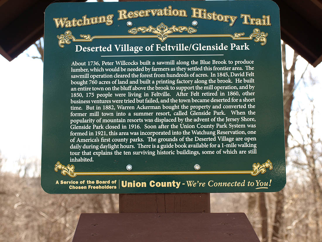 Feltville Sign in Watchung Reservation